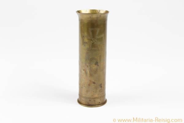 "Grabenkunst ""Schlacht um Cholm Mai 1942"" - Eisernes Kreuz - Munitionshülse"