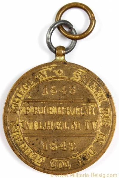 Hohenzollern Denkmünze für Kämpfer 1848-1849