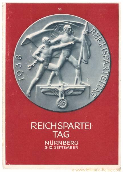 Postkarte Reichsparteitag Nürnberg 1938, 3. Reich