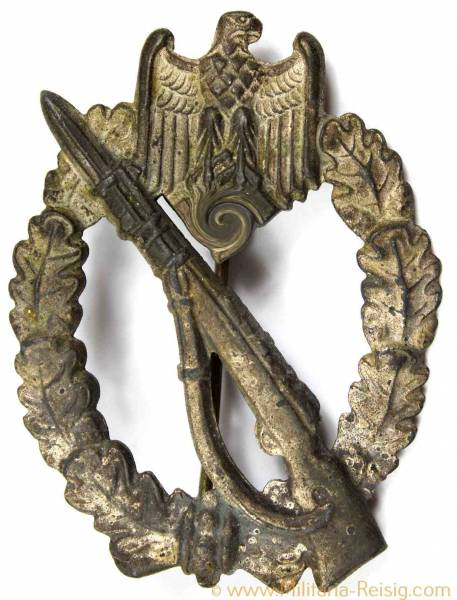 Infanterie Sturmabzeichen (ISA) in Silber, Herst. E.F. Wiedmann Frankfurt a.M.S.