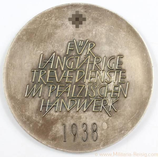 Medaille für langjährige Treue Dienste im pfälzischen Handwerk 1938