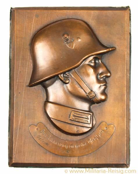 """Relief - Deutscher Landser, Wehrmacht - """"Zur Erinnerung an meine Dienstzeit"""""""