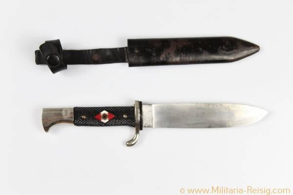 Hitlerjugend (HJ) Fahrtenmesser, Herst. RZM M7/66 1942 - Carl Eickhorn, Solingen