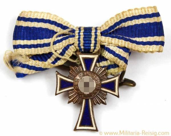 Miniatur Ehrenkreuz der Deutschen Mutter 3.Stufe in Bronze