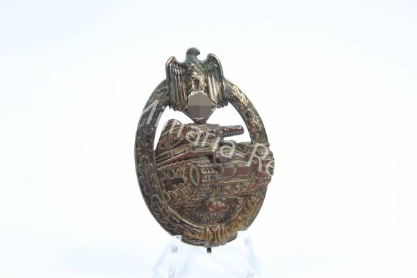 Panzerkampfabzeichen in Silber, Hohlprägung