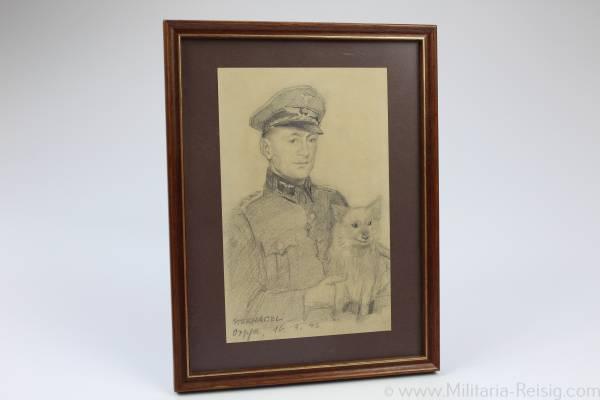 Portrait eines Reichsbahnbeamten, 2. Weltkrieg