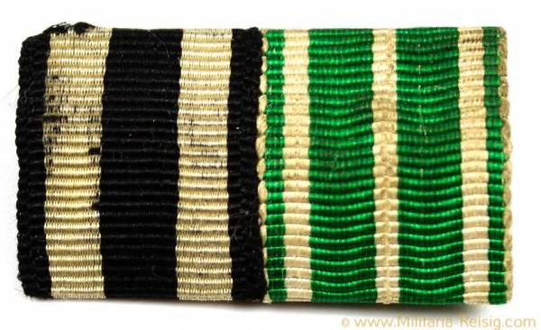2er Feldspange - Eisernes Kreuz 2. Klasse 1914 u. Tapferkeitsmedaille 1915/16