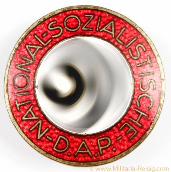NSDAP Parteiabzeichen, Knopfloch Variante, Herst. RZM M1/8 (Ferdinand Wagner Pforzheim)
