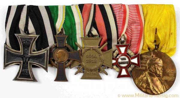 Ordensspange mit 5 Auszeichnungen