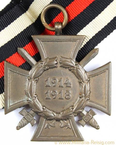Ehrenkreuz des 1.Weltkrieges Frontkämpferkreuz, Herst. KM & F