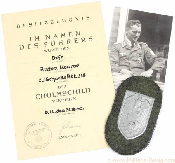 Cholm Nachlass des Gefr. Anton Konrad, Kampfgruppe Scherer