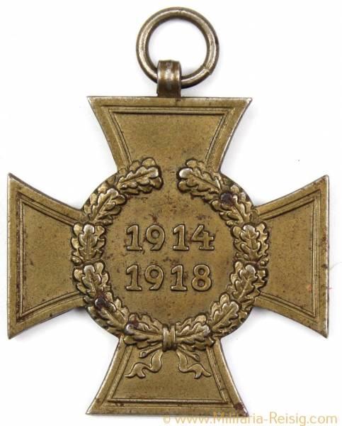 Ehrenkreuz des 1.Weltkrieges Kriegsteilnehmerkreuz, Herst. R.V. 24 Pforzheim