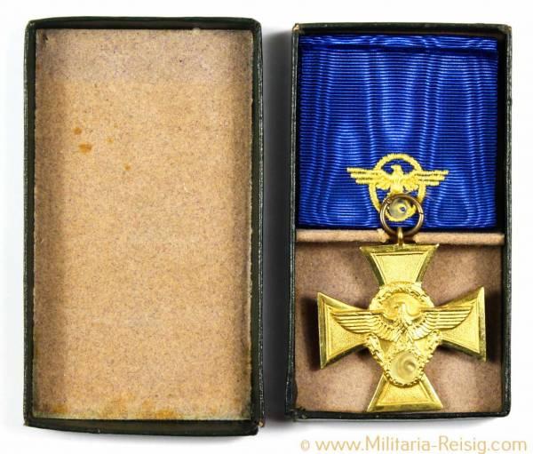 Polizei Dienstauszeichnung Gold für 25 Jahre, Herst. 16 - Alois Rettenmeyer, Schwäbisch Gmünd
