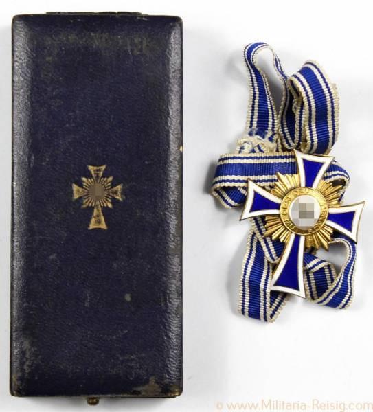 Ehrenkreuz der Deutschen Mutter 1. Stufe Gold, Herst. L.Bertsch, Karlsruhe