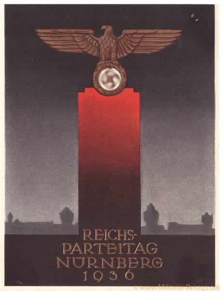 Postkarte Reichsparteitag Nürnberg 1936, 3. Reich