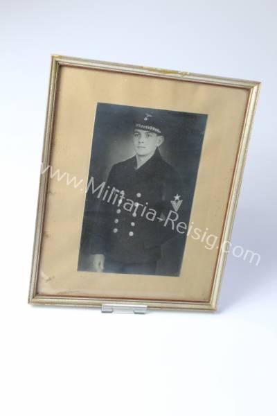 Gerahmtes Portrait eines Marinesoldaten, Wehrmacht
