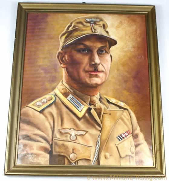 Portrait eines Afrika Korps Soldaten in Tropenuniform
