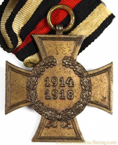 Ehrenkreuz des 1.Weltkrieges Kriegsteilnehmerkreuz, Herst. IMME