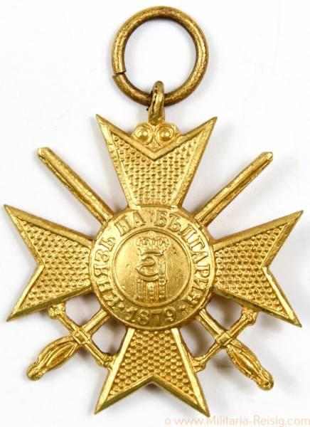 Militärverdienstkreuz mit Schwertern in Gold 1915, Bulgarien