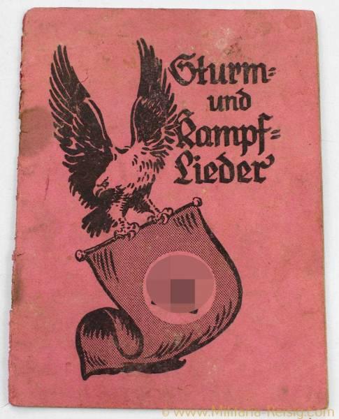 """Liederbuch """"Sturm und Kampflieder"""", 3. Reich"""