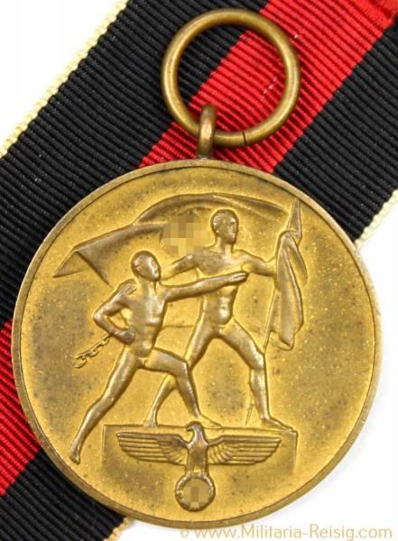 Medaille zur Erinnerung an den 1. Oktober 1938