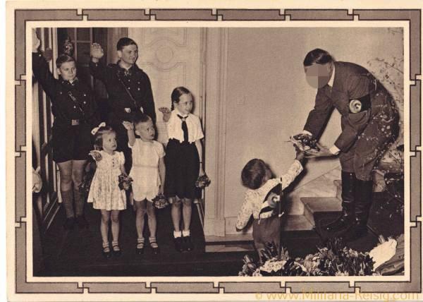 Postkarte, Adolf Hitler, 50. Geburtstag, 3. Reich