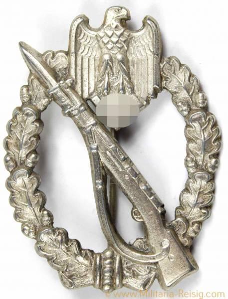 Infanterie Sturmabzeichen in Silber, Herst. GWL (Gebrüder Wegerhoff, Lüdenscheid)