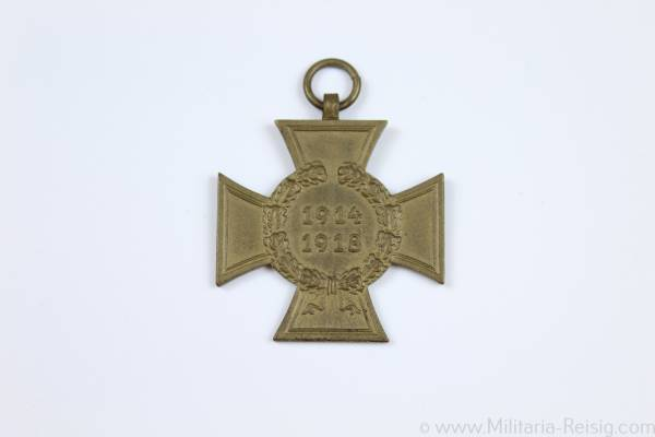 Kriegsteilnehmerkreuz 1914-1918, 1. Wektkrieg, Herst. 0.14