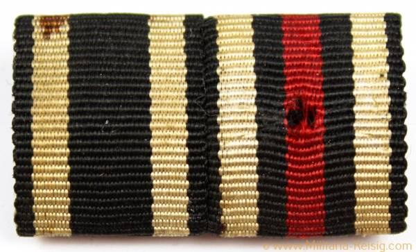2er Feldspange - Eisernes Kreuz 2. Klasse 1914 u. Ehrenkreuz für Frontkämpfer