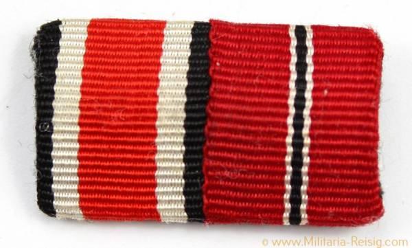 2er Feldspange - Eisernes Kreuz 2. Klasse 1939 und Ostmedaille