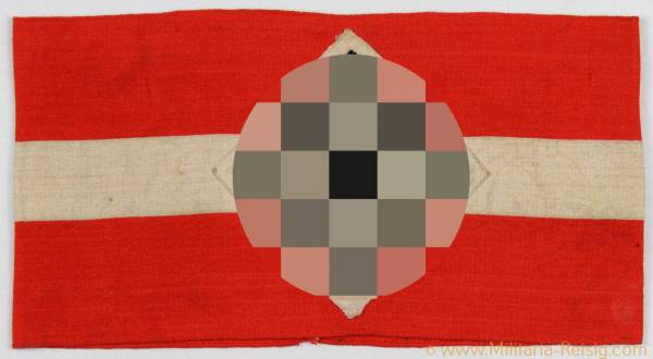 Hitlerjugend (HJ) Armbinde mit RZM-Etikett