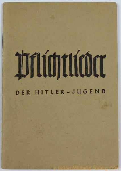"""Kleines Liederbuch """"Pflichtlieder der Hitlerjugend"""""""