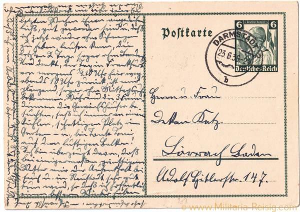 Postkarte, 3. Reich