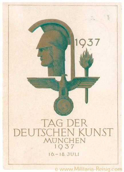 Postkarte Tag der deutschen Kunst, München, 1937, 3. Reich