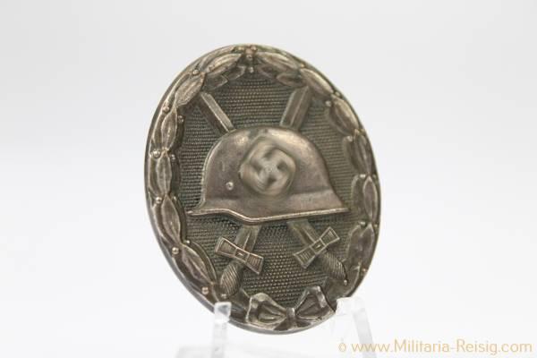 Verwundetenabzeichen in Silber 1939 Buntmetall Herst. 13 - Gustav Brehmer, Markneukirchen