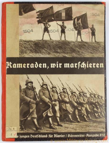 """Liederbuch """"Kameraden, wir marschieren"""" Ausgabe 890, Ordensburg Vogelsang Bücherei"""