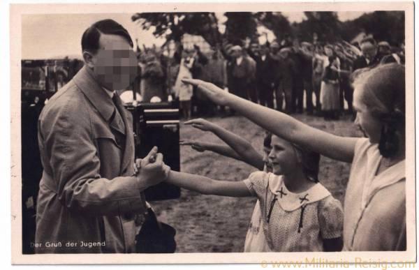 """Postkarte """"Der Gruß der Jugend"""", Adolf Hitler"""