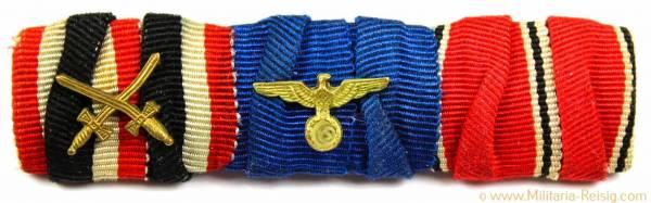 3er Feldspange (KVK, Dienstauszeichnung, Österreich-Medaille)