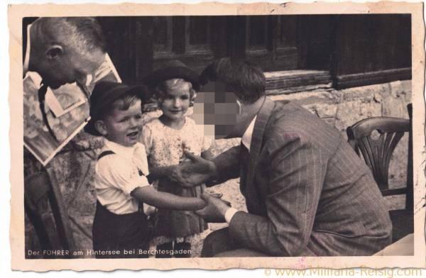 """Postkarte """"Der Führer und am Hintersee bei Berchtesgaden"""""""