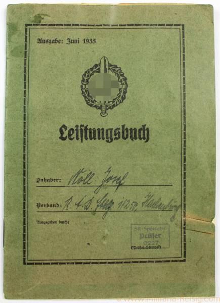 SA Leistungsbuch - Ausgabe Juni 1935