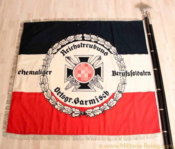 Fahne Reichstreubund ehemaliger Berufssoldaten Ortsgr. Garmisch, sehr selten!