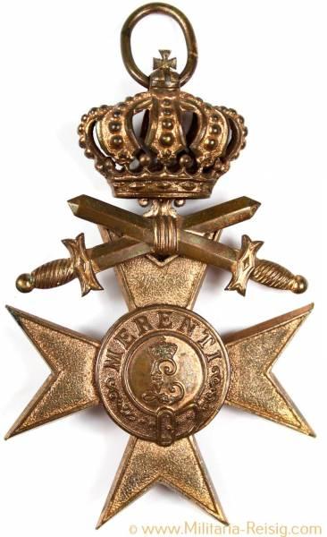 Militärverdienstkreuz 3.Klasse mit Schwertern und Krone (3.Form 1913)