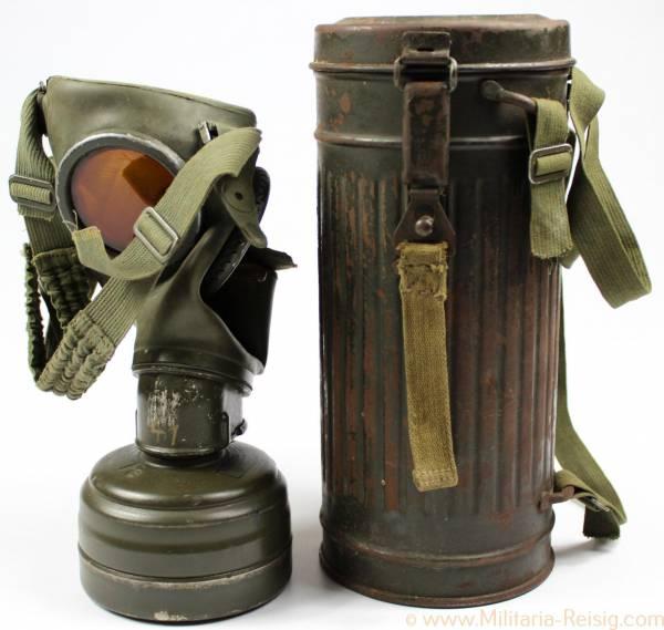 Gasmaske der Wehrmacht 1940, Modell GM-38, Herst. Dräger, Lübeck