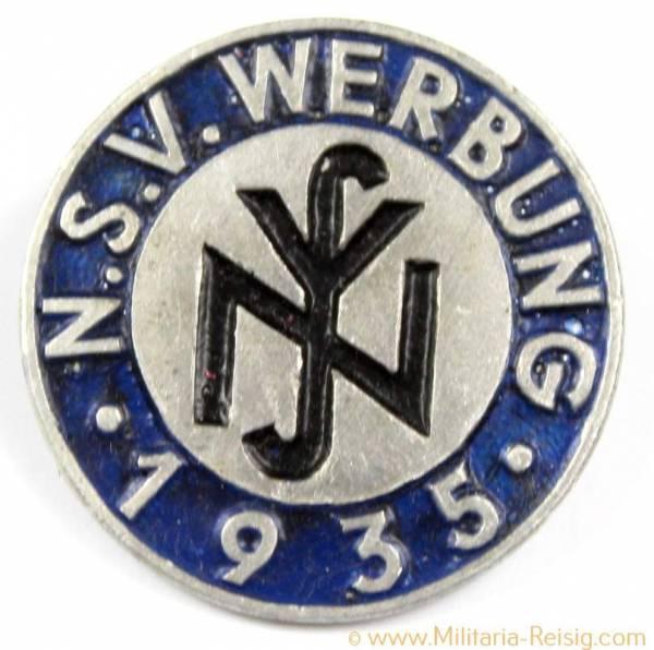 Mitgliedsabzeichen (NSV), Herst. E.F. Wiedmann Frankfurt a.M.S.