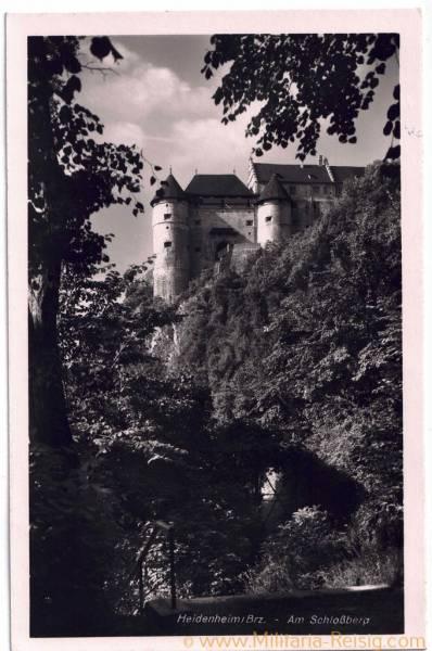 "Postkarte ""Heidenheim Brz. - Am Schloßberg"", 3. Reich"