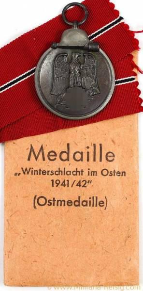 Ostmedaille mit Verleihungstüte, Herst. Hans Dieren, Posen, sehr selten!