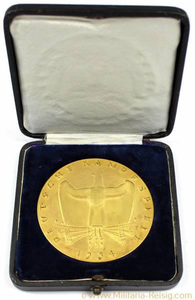 """Medaille """"Deutsche Kampfspiele 1934"""", 3. Reich"""