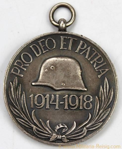 Ungarn Weltkriegs-Erinnerungsmedaille (Pro Deo Et Patria) mit Band