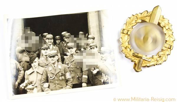SA Sportabzeichen in Gold Typ 1, Herst. L. Christian Lauer, Nürnberg - Berlin
