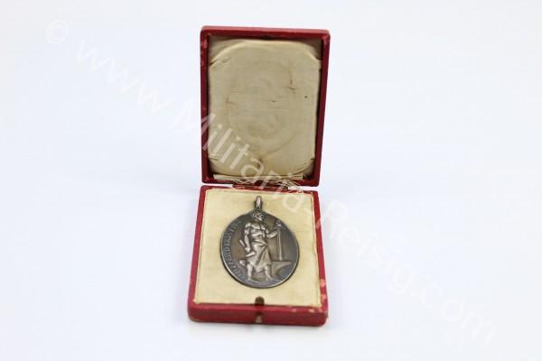 Alfred Krupp Silbermedaille zum 100.Geburtstag 1812-1912 im Etui